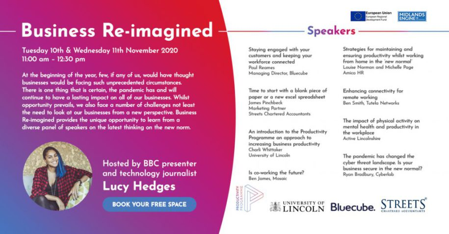 Join us for the Business Re-imagined virtual conference