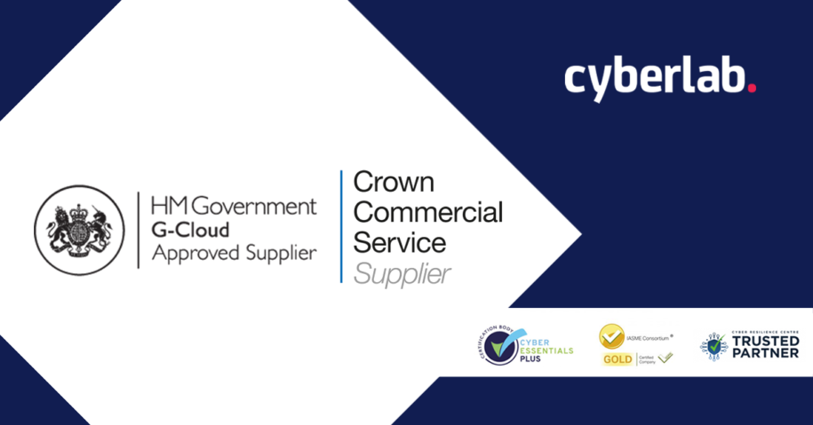 Cyberlab named as an approved supplier on HM Government G-Cloud 12 Framework