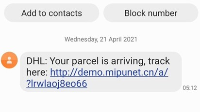 Flubot: Warnings over major Android 'Package Delivery' Scam